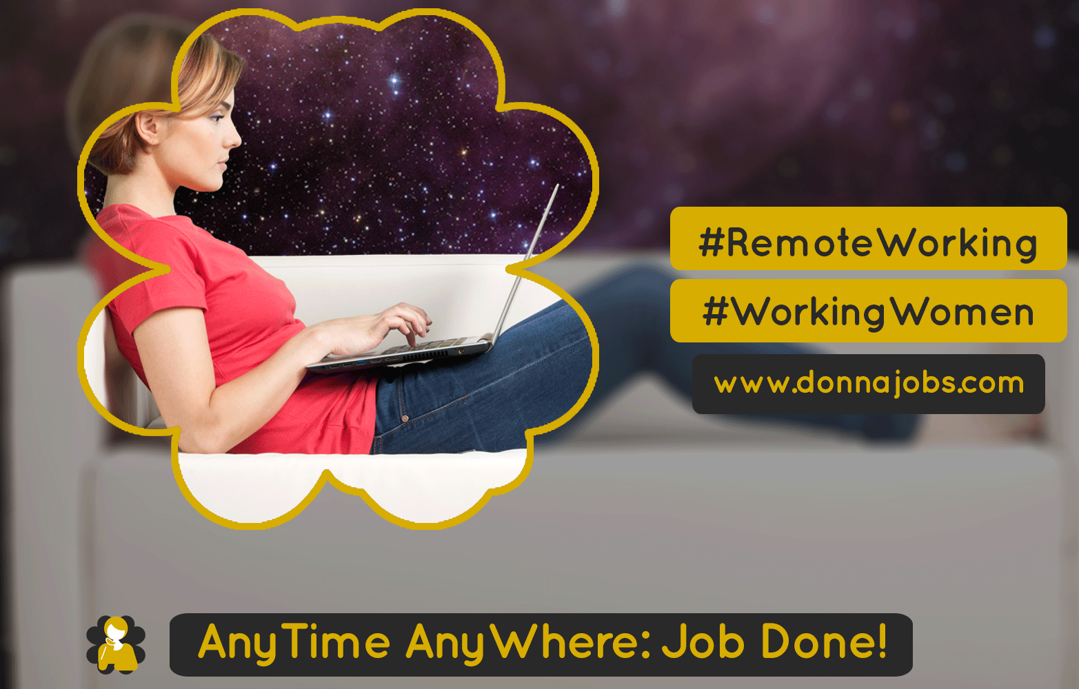 DonnaJobs AnyTime AnyWhere Job Done