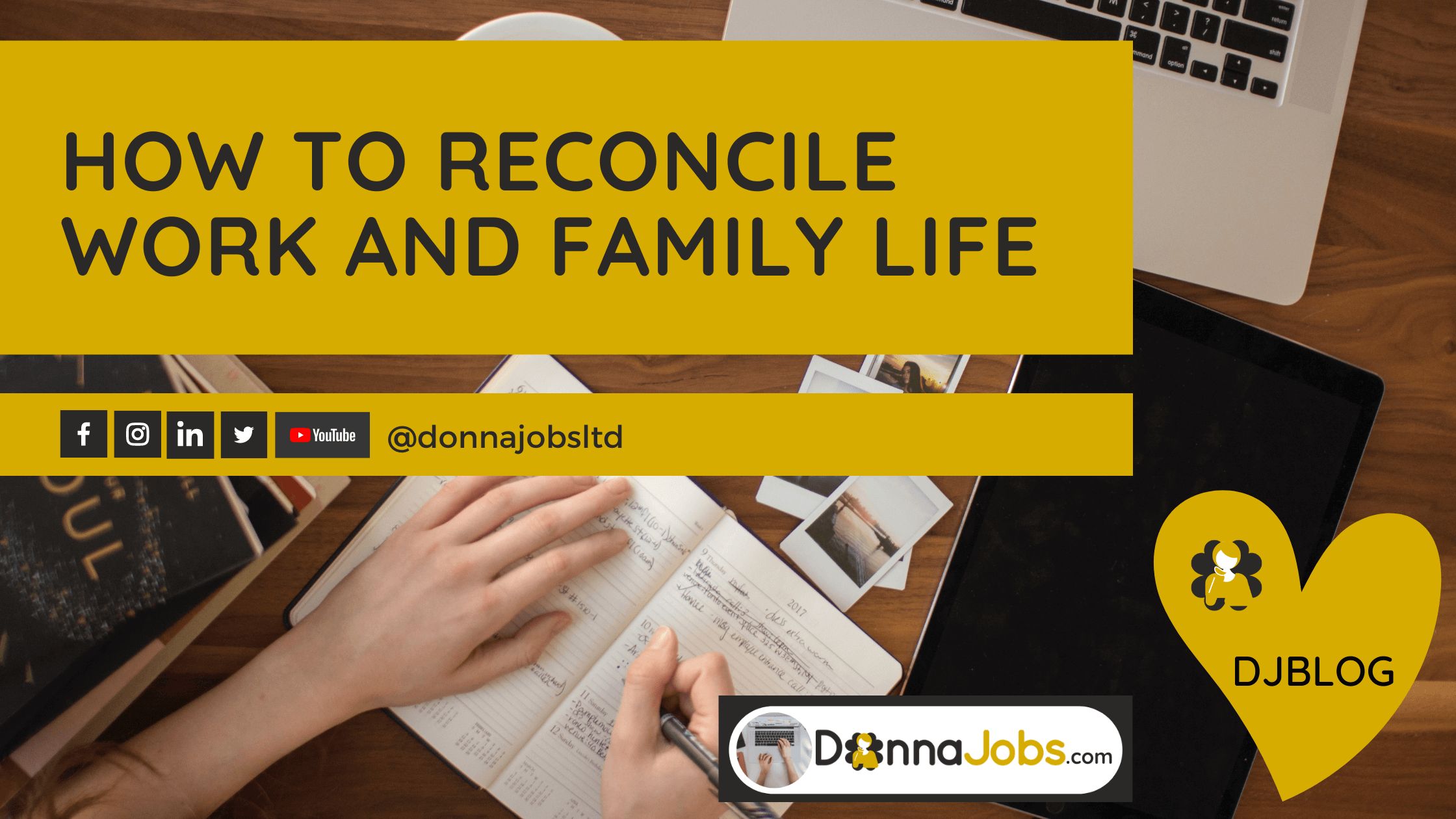 DonnaJobs helps you to reconcile work and family life